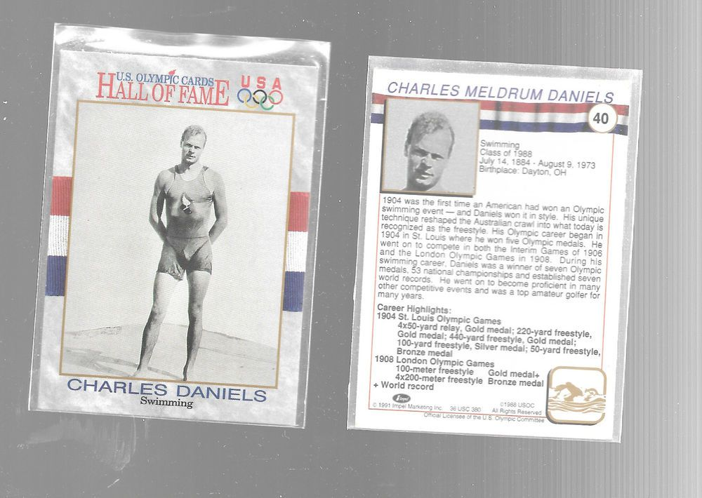 1991 impel us olympic hall of fame charles daniels 40