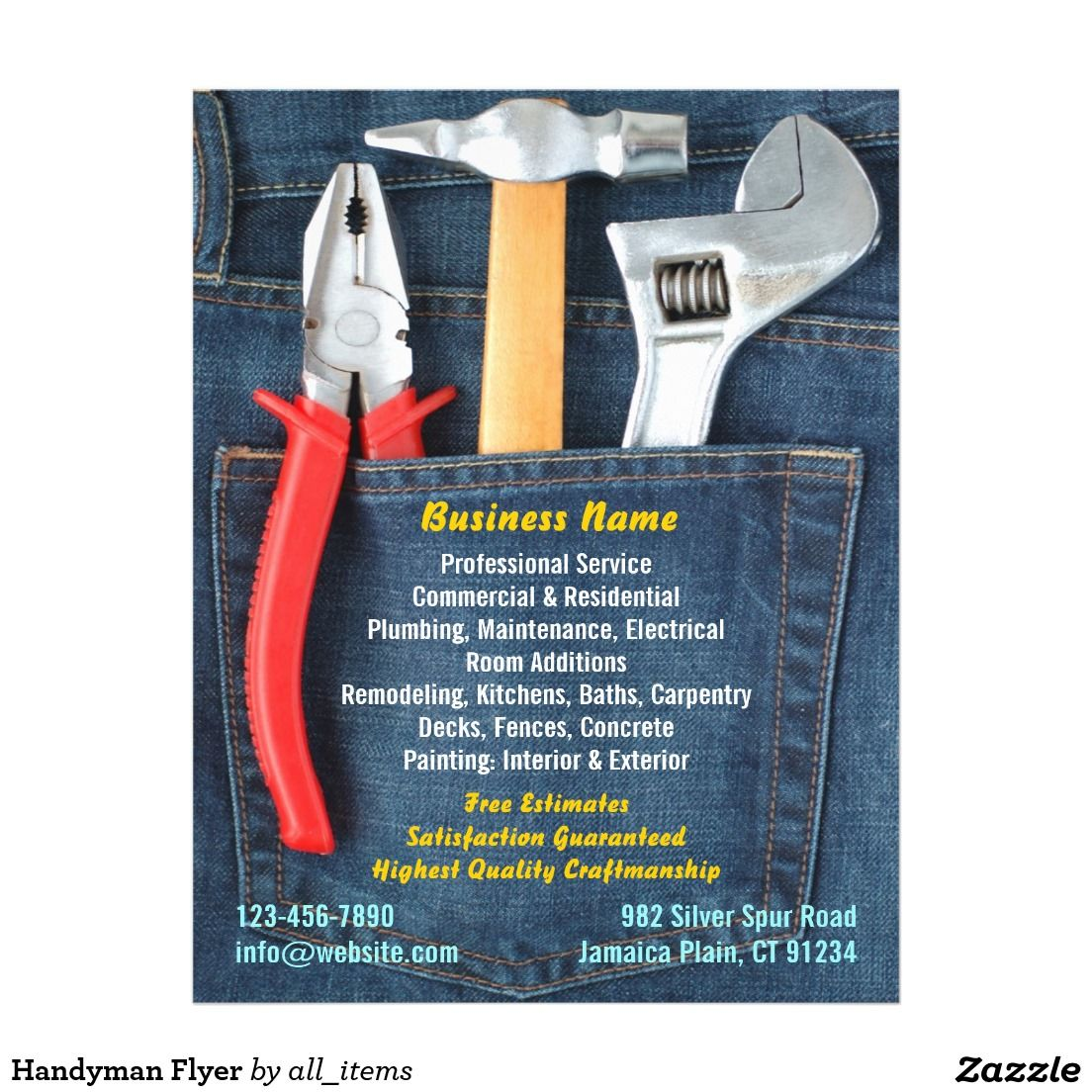 handyman flyer stuff to buy flyer template flyer design