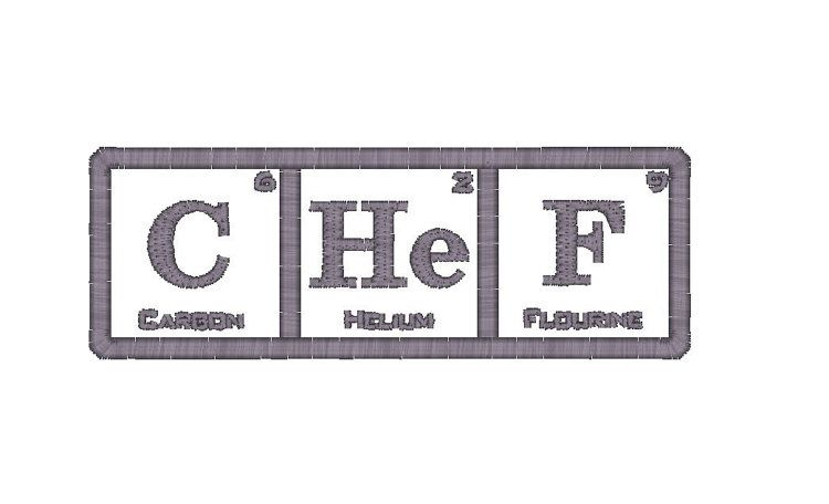 Chef Periodic Table of Elements Machine by SproutEmbroidery