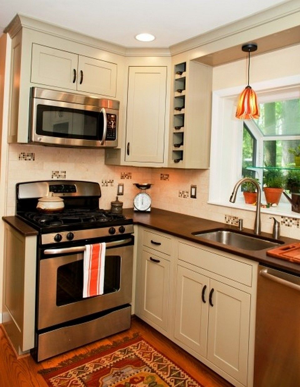 small kitchen remodel and amazing storage hacks on a budget