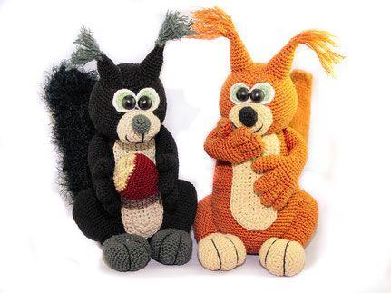 Eichhörnchenhäkelnanleitung Pdfebooktier Amigurumi Pinterest