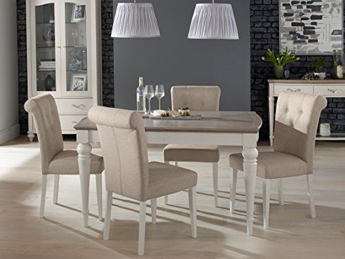 Coastlink Manhattan Rectangular Extension Dining Table Set For 4 Parson Chairs Want Additional