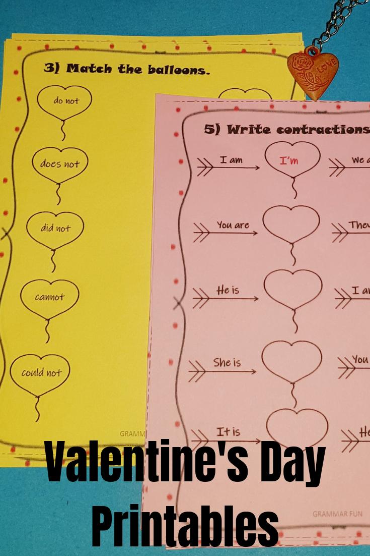 Valentine S Day No Prep Worksheets Contractions And Possessives Valentines Valentine S Day Printables Possessives [ 1102 x 735 Pixel ]