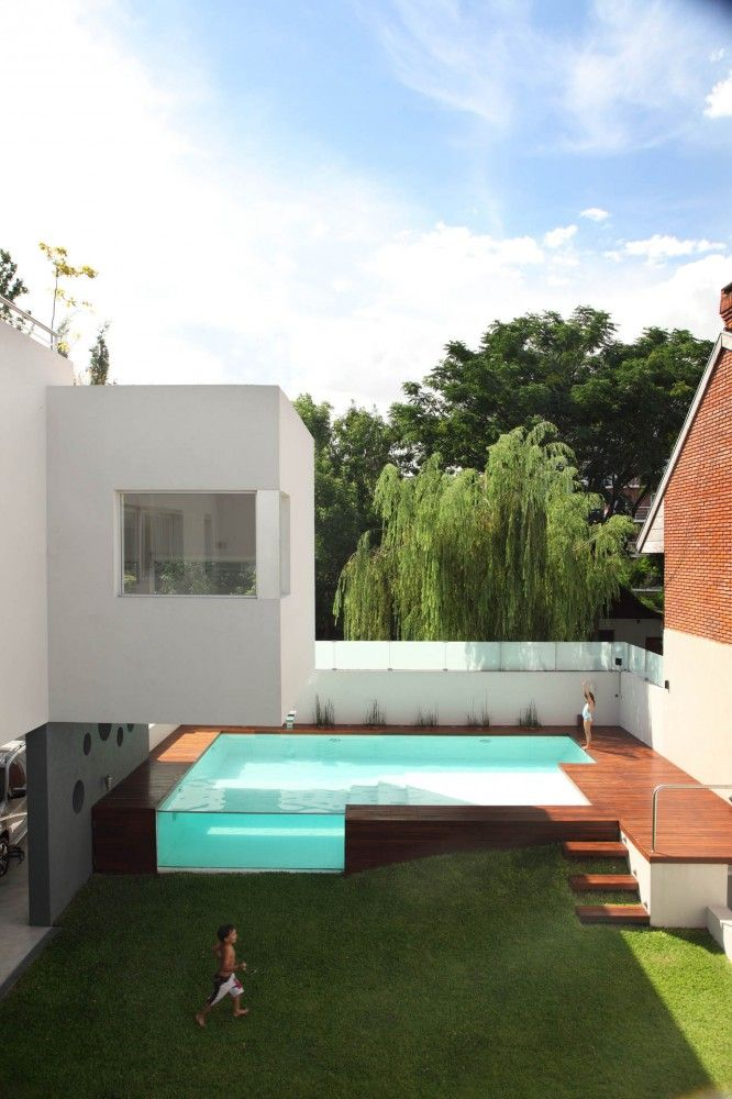 on very modern house plans pools.html