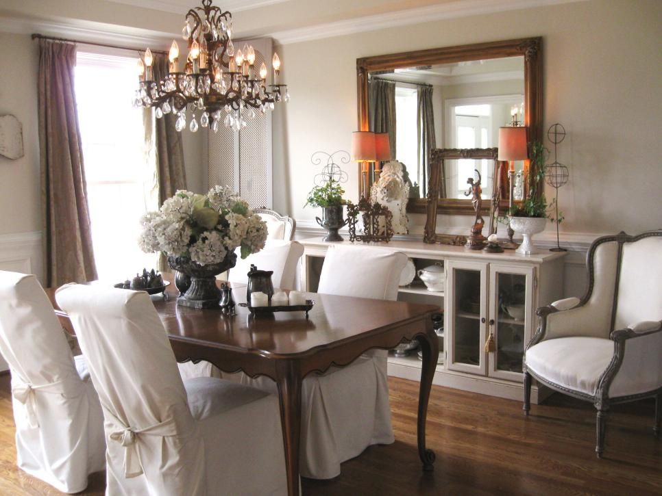 Spice Up Your Dining Room With Stylish Slipcovers  Hgtv Dining Alluring Hgtv Dining Rooms Decorating Design