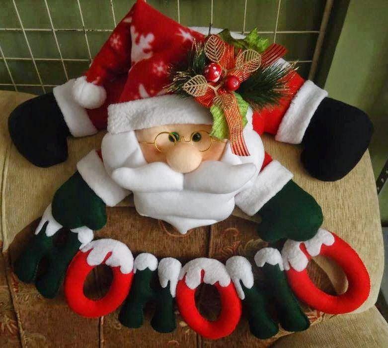 Moldes de mu ecos navide os papa noel buscar con google - Manualidades con fieltro para navidad ...