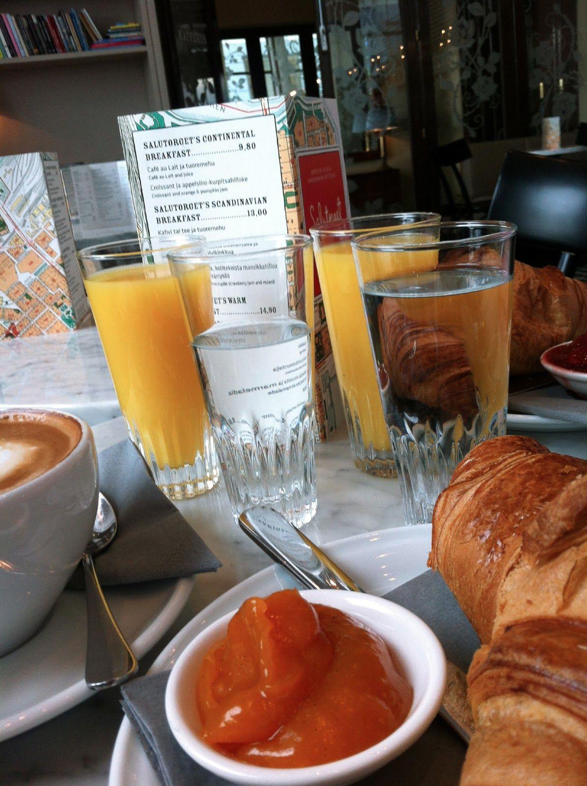Salutorget, aamiainen