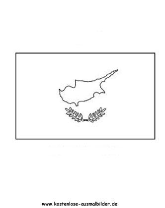 Ausmalbild Fahne Flagge Zypern Zypern Fahnen Flaggen