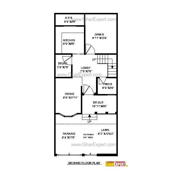 House Plan For 16 Feet By 54 Feet Plot Plot Size 96: House Plan For 22 Feet By 42 Feet Plot (Plot Size 103