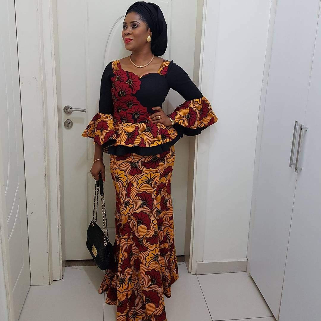 Here Are Pictures Of Latest Ankara Peplum Styles In 2018 Skirt