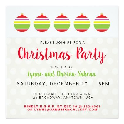 Red and Lime Green Christmas Ball Party Invitation Green christmas - holiday party invitation