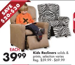 Kids Recliners From Big Lots 39 99 Save 20 30 Kids Recliners Recliner Kids