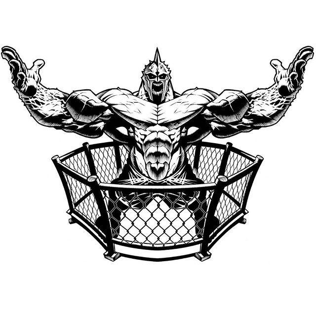 MMA logo for a jitz gym in Florida. #MMA #JiuJitsu #