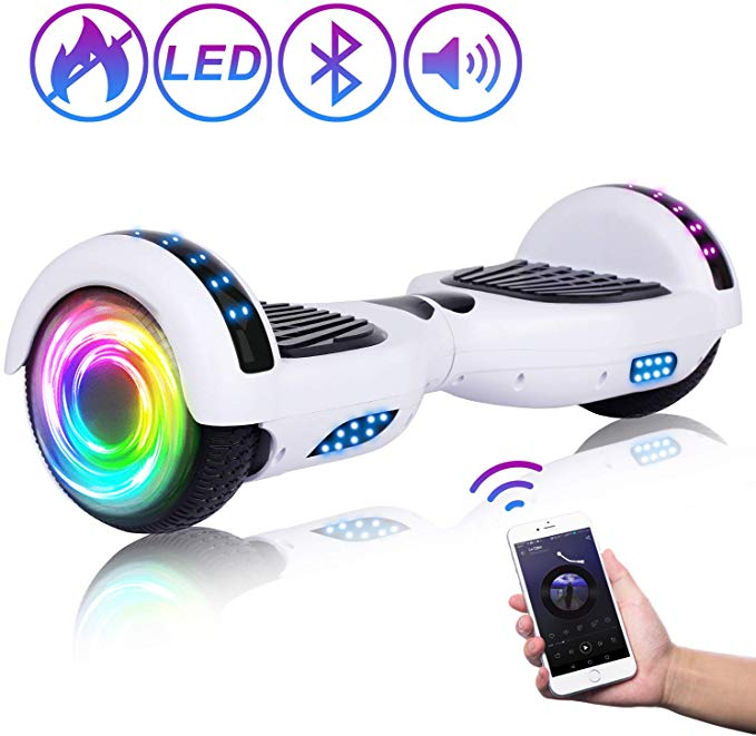 Electric Hooverboard Dual-Motor Bluetooth Speaker LED Lights UL2272 certified