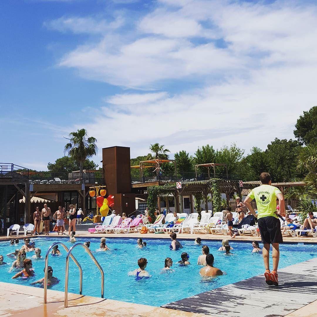 En direct de l'Aquagym!  #Campsite#Camping#France#French#Portiragnes#Vias#Beach#Plage#Sun#Soleil#Vacances#Holidays#Sablons#Hérault#Like#Mer#Summer#Piscine#Spring#Mobilhome#Sea