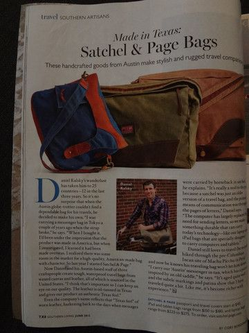 Satchel & Page in Southern Living Magazine!