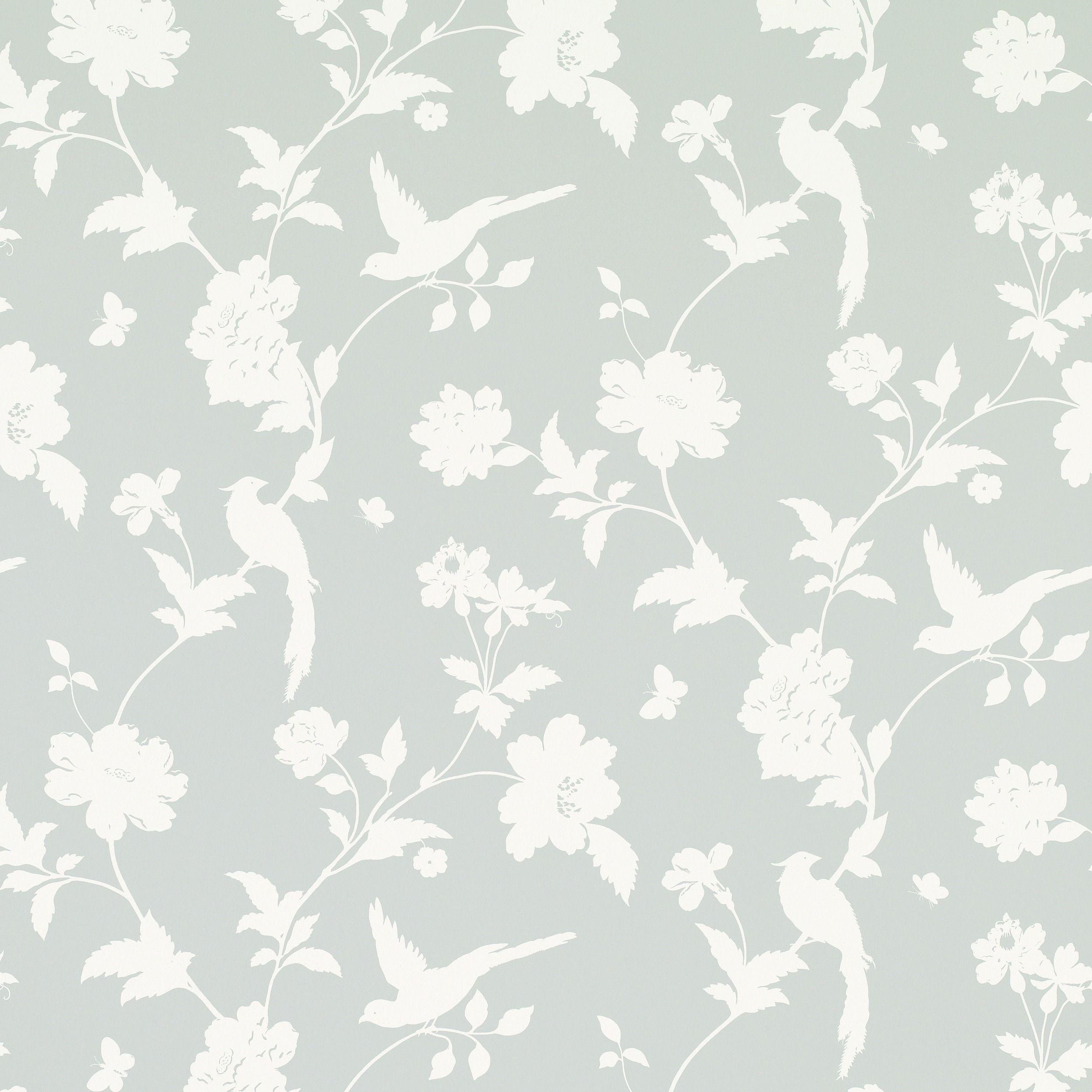 Laura Ashley - Josephine - Dove - Grey - Wallpaper
