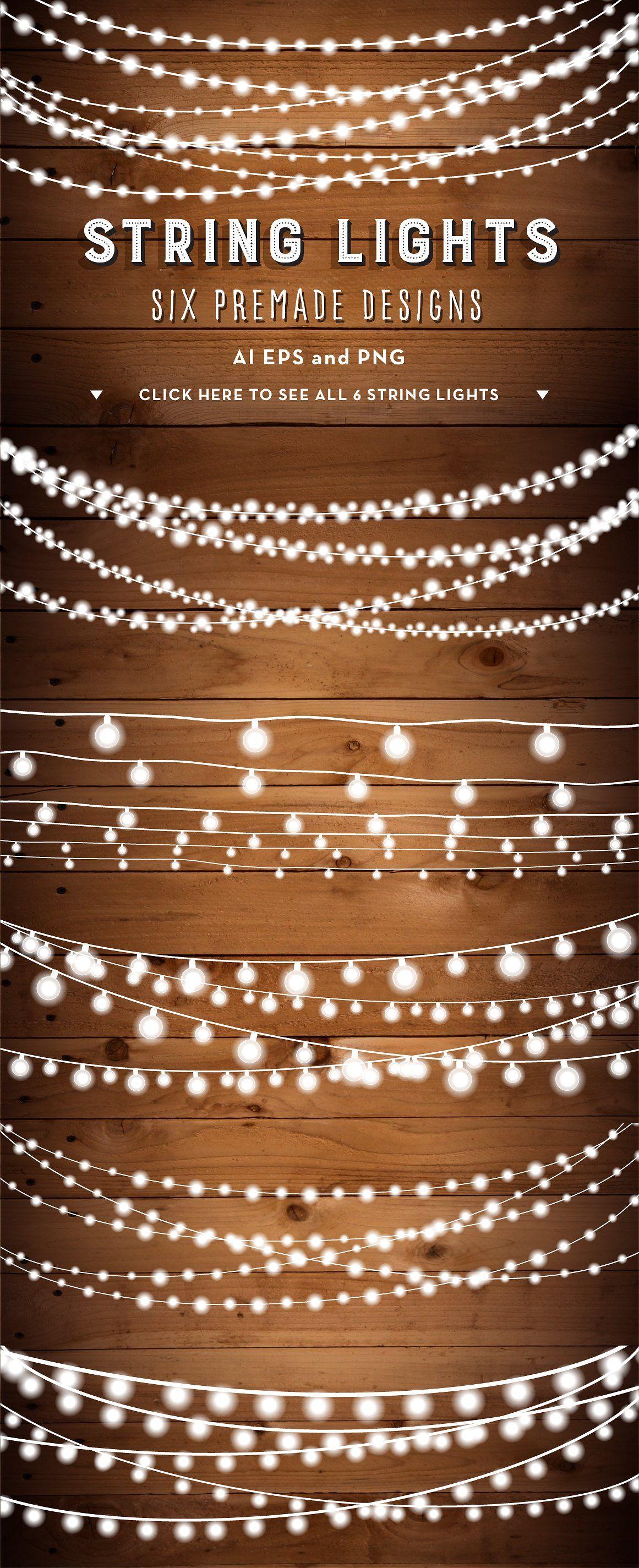 String Lights With Clips String Lights Bunches Clip Art Set  Pinterest  Clip Art Lights