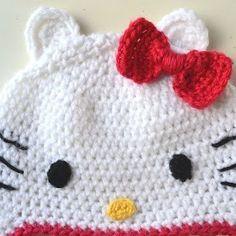 Hello Kitty Hat Pattern | Hello kitty crochet, Crochet hat ...