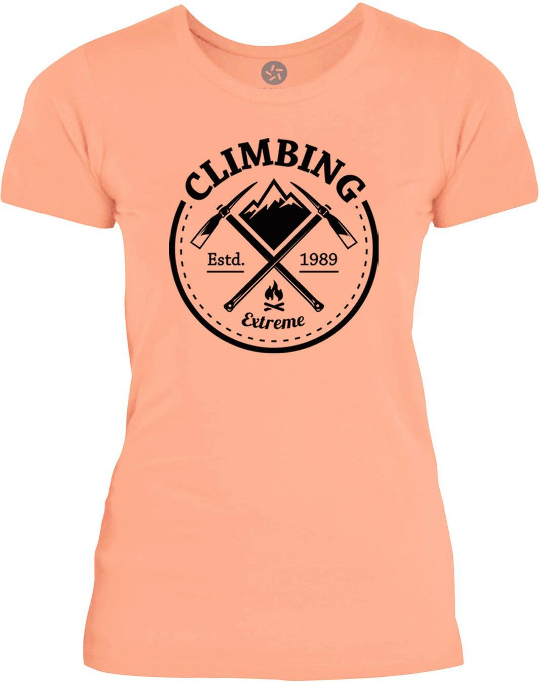 Big Texas Extreme Climbing (Black) Womens Fine Jersey T-Shirt