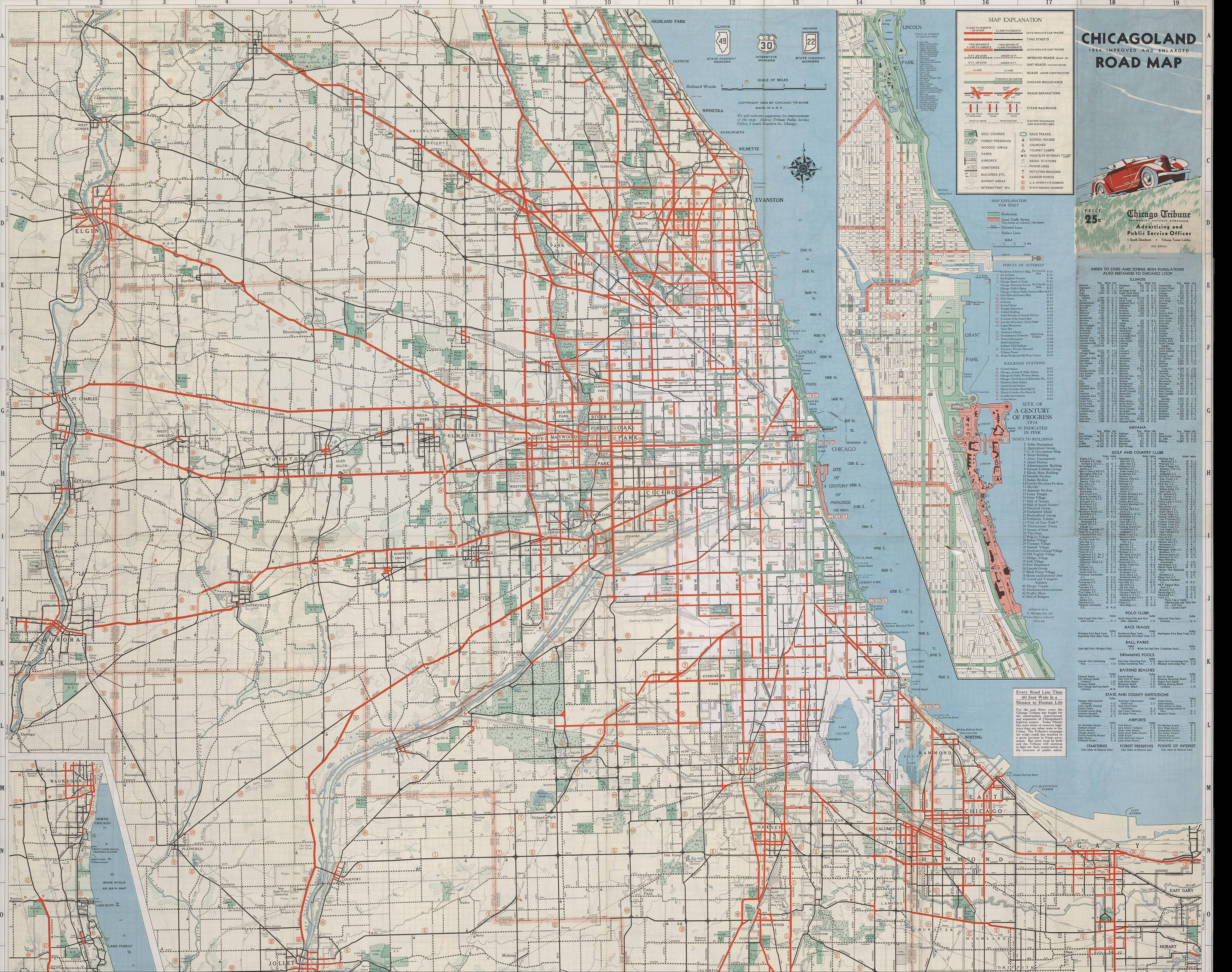 Chicagoland Road Map - 1934 #map #chicago   maps   Chicago ... on people map, chicago murder map, chicago area map, chicago street map with numbers, chicago highway map with names, english map, goose island chicago map, chicago ward map, chicago indianapolis map, google map, chicago cubs map, the state map, chicago crime map, chicago suburban map, chicago united states map, chicago road map, chicago aurora map, chicago texas map, ap map, chicago bay map,