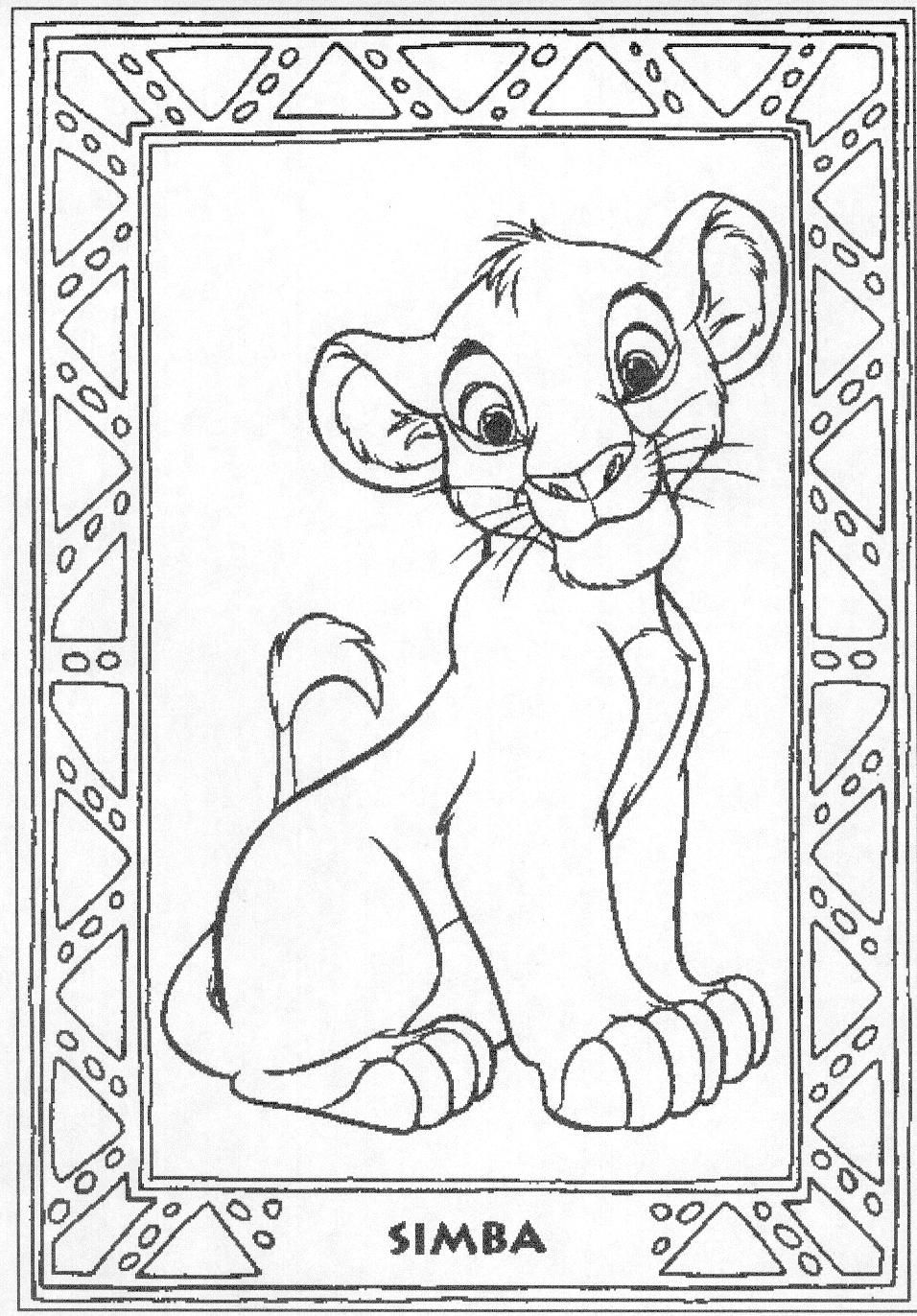 Coloring Pages Lion King Simba Coloring Pages 1000 images about coloring pictures for baby shower on pinterest cartoon disney movies and free printable pages