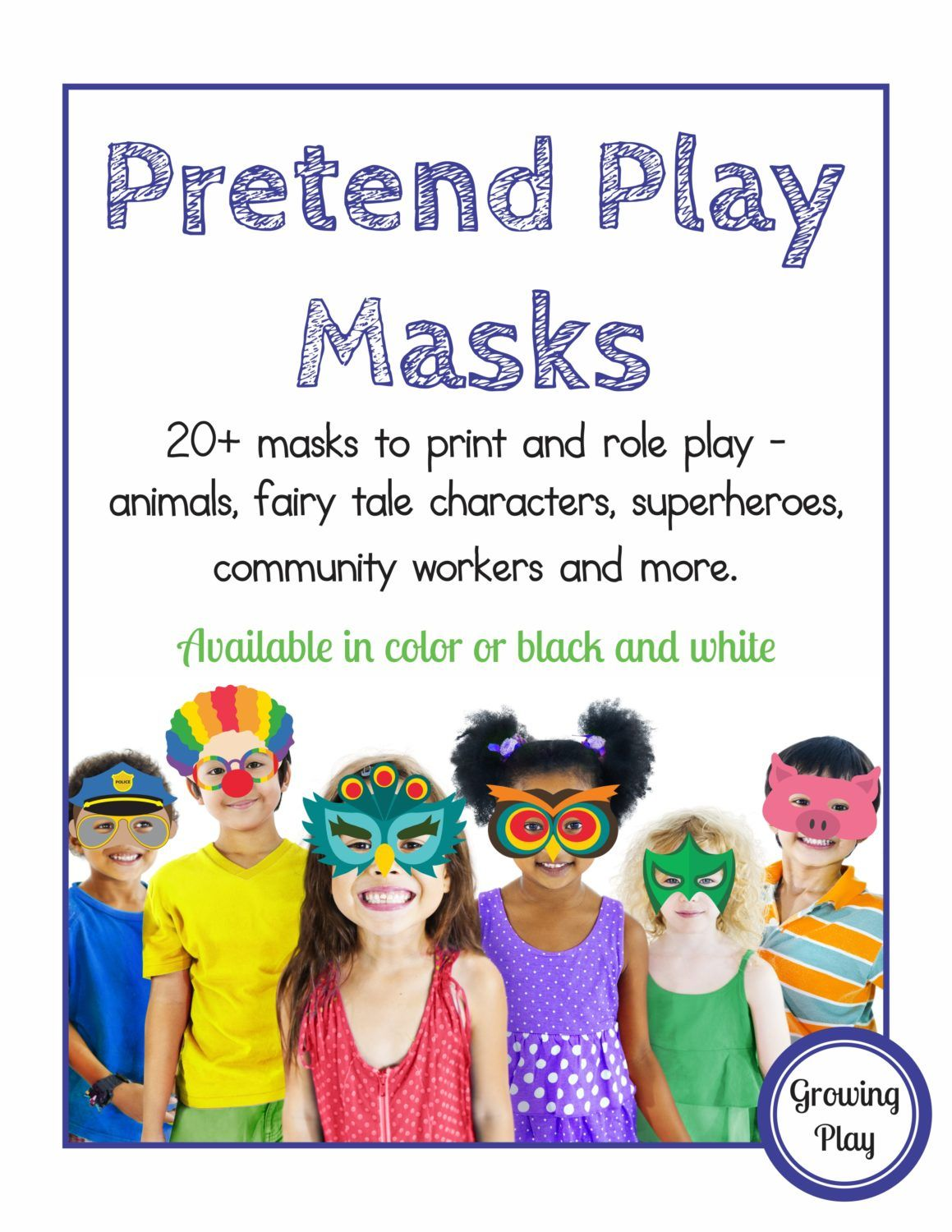Pretend Play Masks