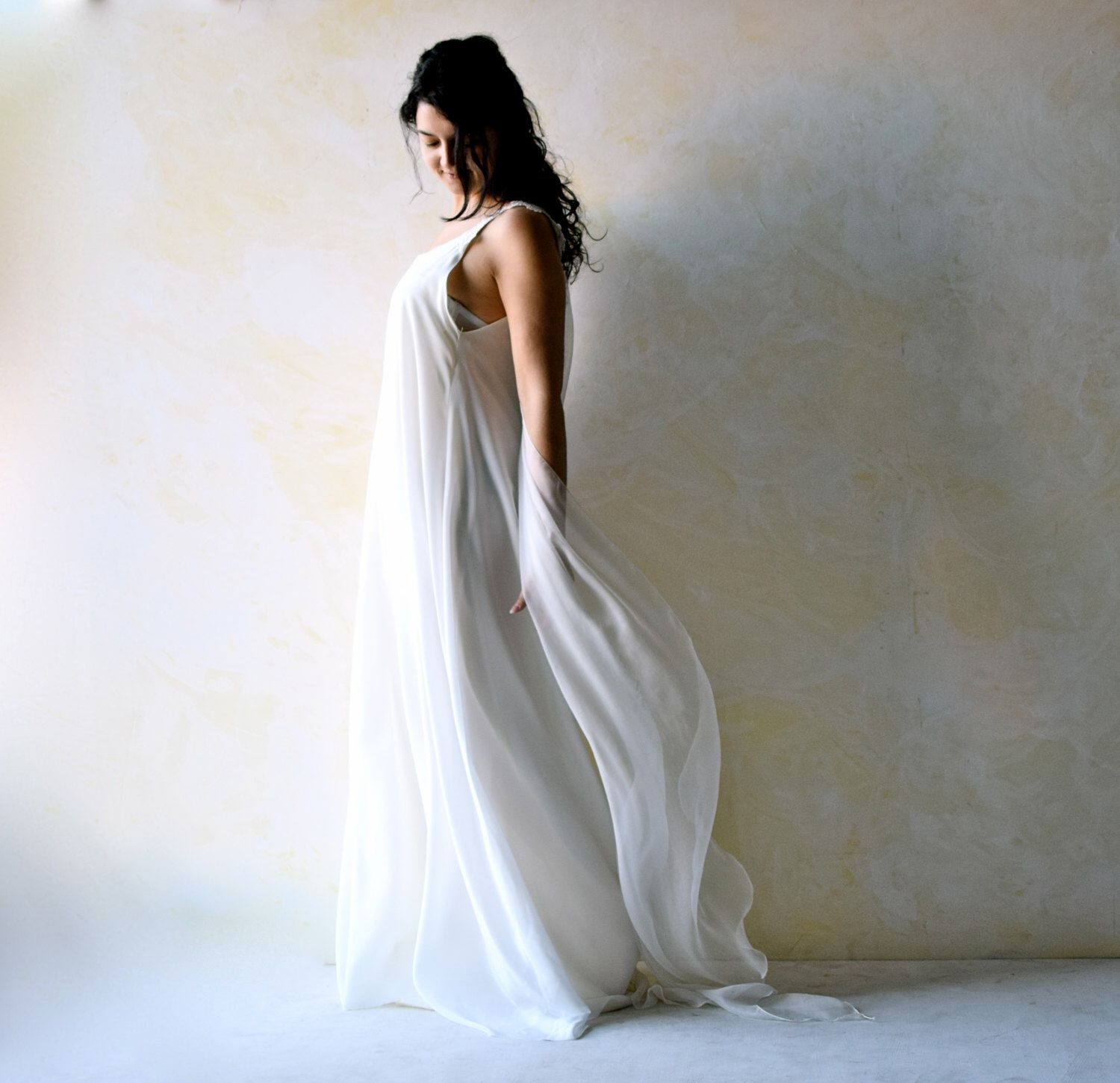Wedding dress boho wedding dress ethereal wedding dress tunic