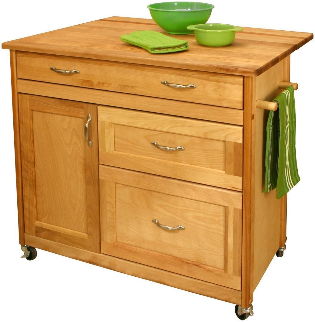 Portable Kitchen Island A Rolling Cart With Countertop: Shop Portable Kitchen Islands