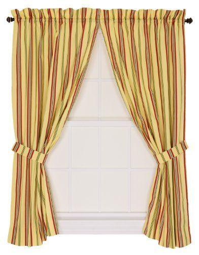 Ellis Curtain Warwick Medium Scale Stripe 68 By 54 Inch Tailored