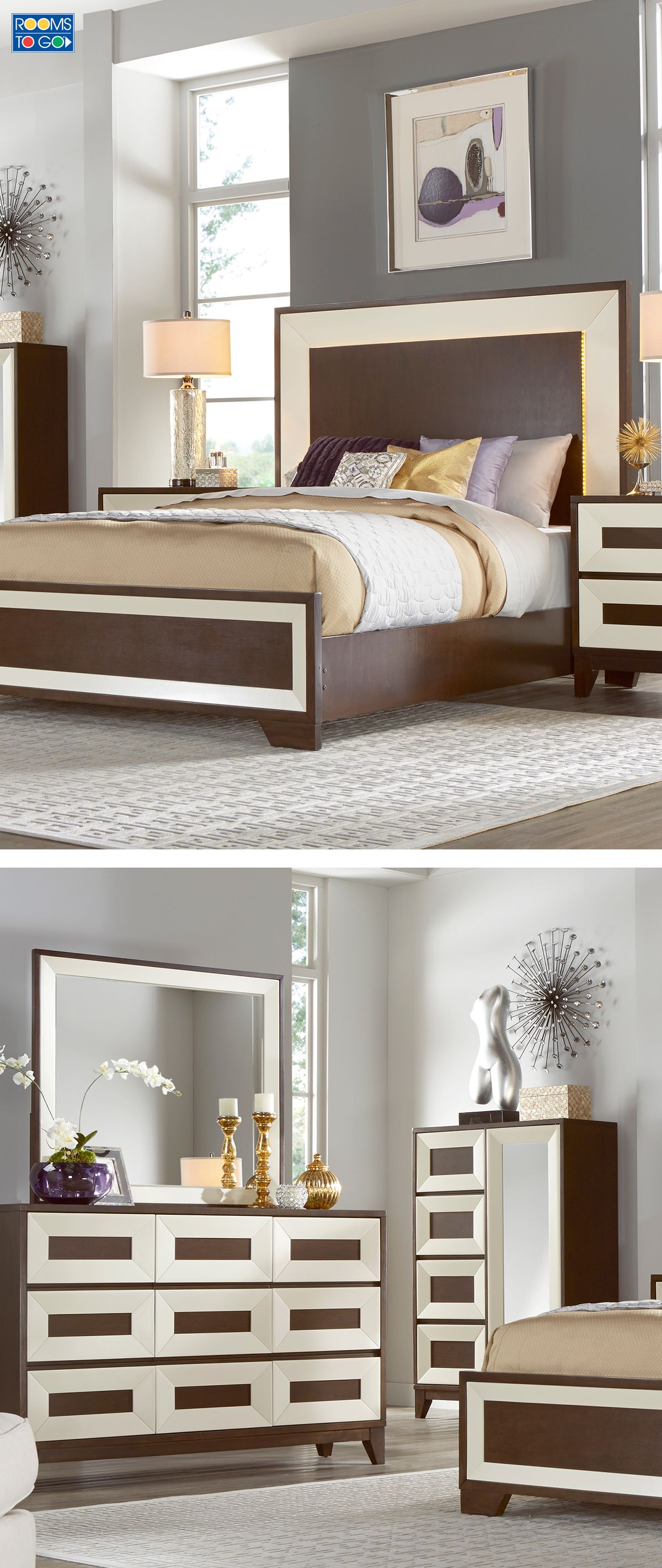 Cozy Up To Contemporary Style With The Sleek Sophisticated Design Of The Sofia Vergara Savona Bedroom Bedroom Sets Queen Bedroom Panel Bedroom Styles