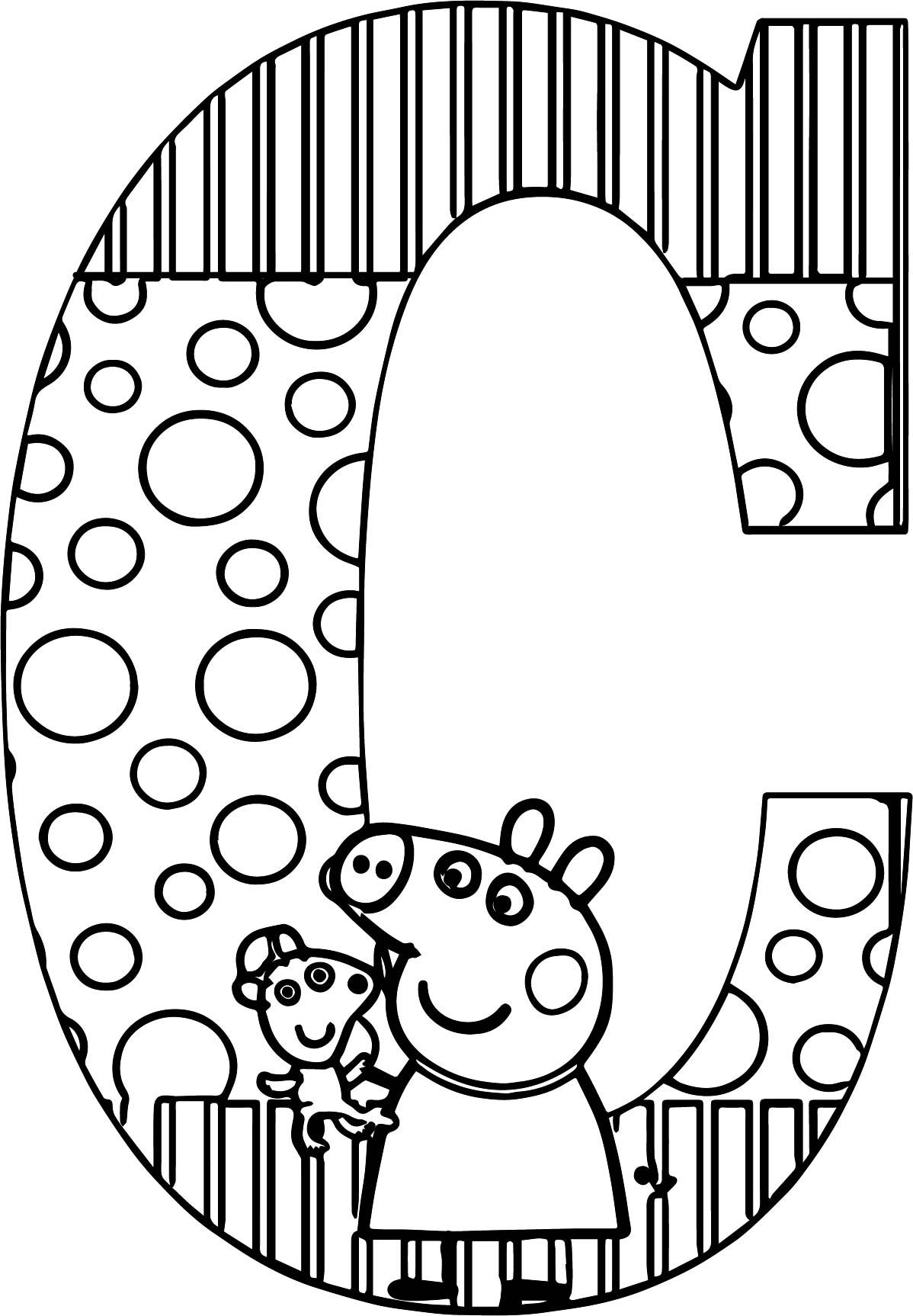 Nice Peppa Pig C Letter Coloring Page Alphabet Coloring Pages Coloring Pages Peppa Pig Coloring Pages