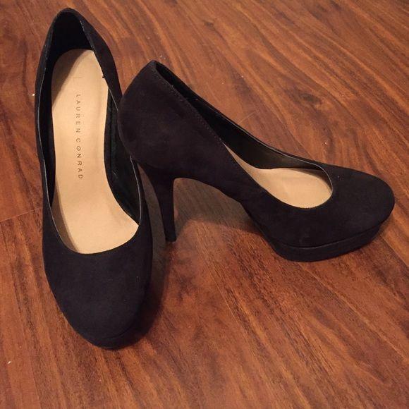 LC Lauren Conrad Johanna Women/'s High Heels Black Platform Stiletto Dress Shoes