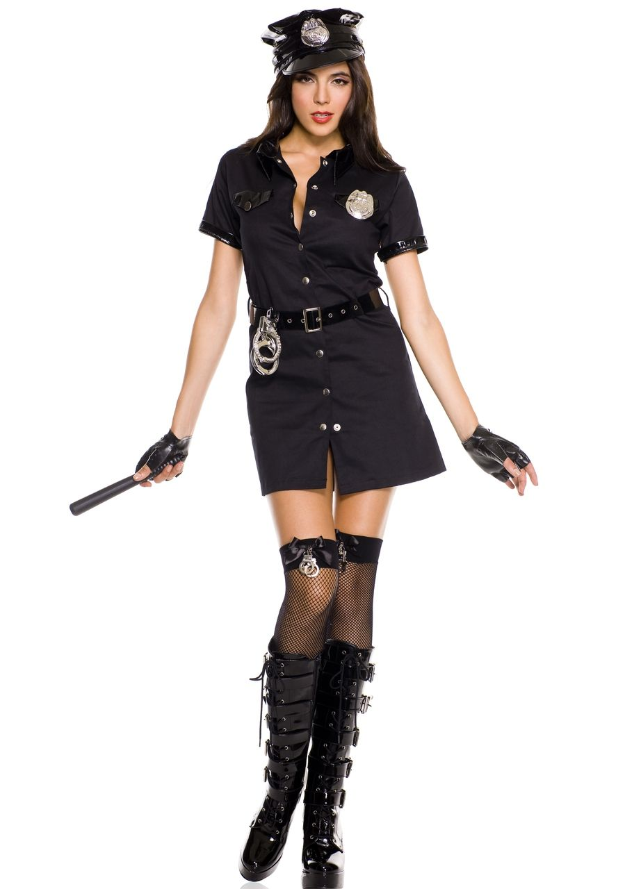 Corrupt Cop Sexy Police Officer Costume Law Enforcement Halloween Sizes