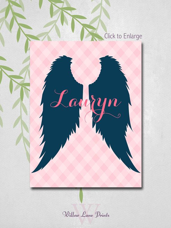 Newborn baby girl gift angel wings nursery art by willow lane newborn baby girl gift angel wings nursery art by willow lane prints negle Image collections