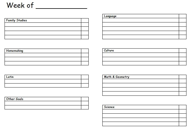 Student Planner Templates  He DidnT Do Every Subject Every Day