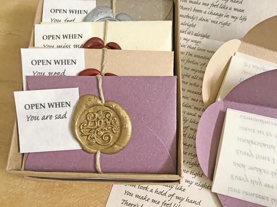 Personalized Open When Letters Long Distance Relationship