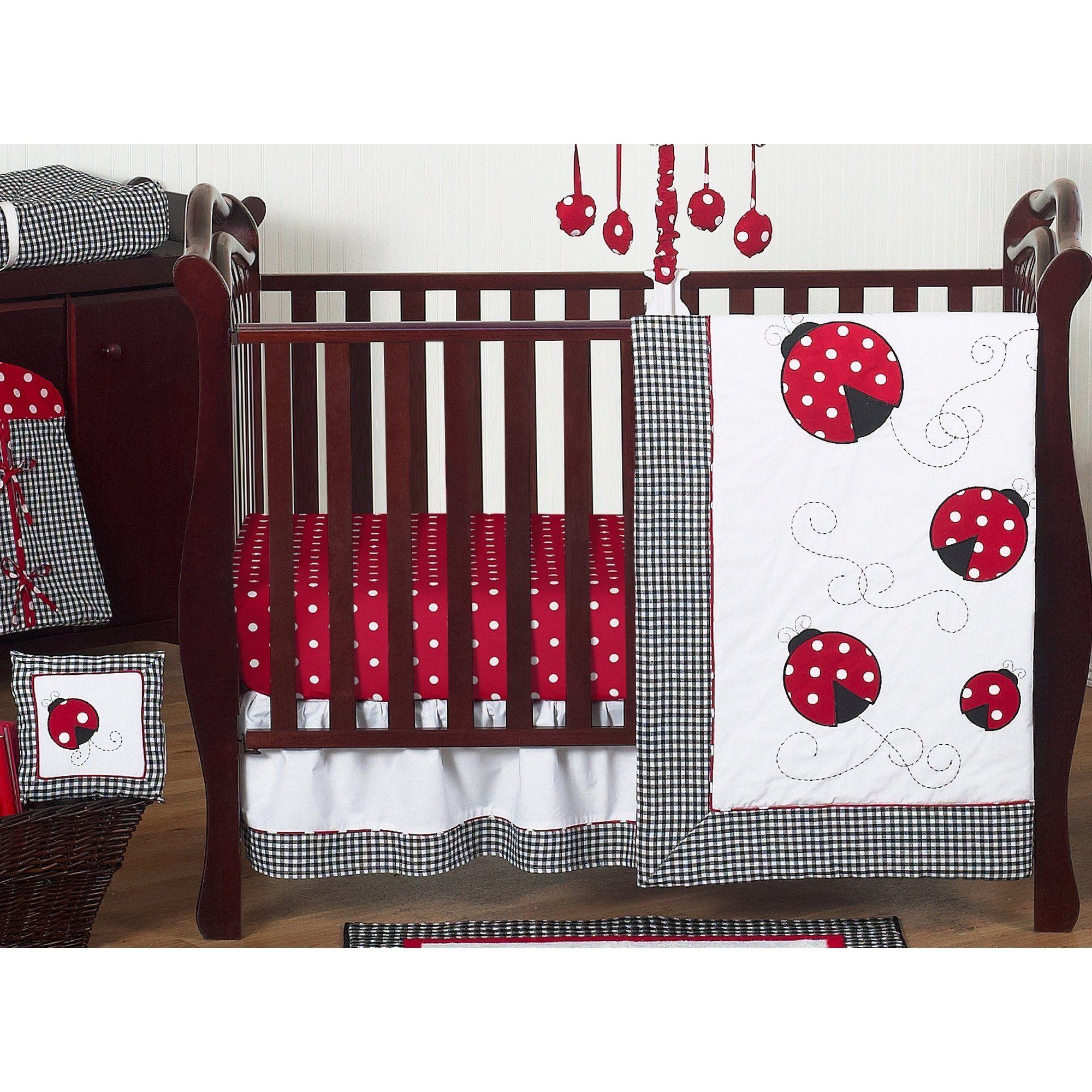 Sweet Jojo Designs Red And Black Little Ladybug 11 Piece