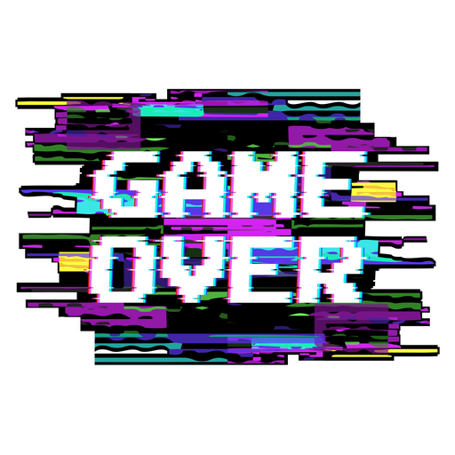 Game Over Glitch Effect Sticker In 2021 Stickers Glitch Effect Stickers Stickers
