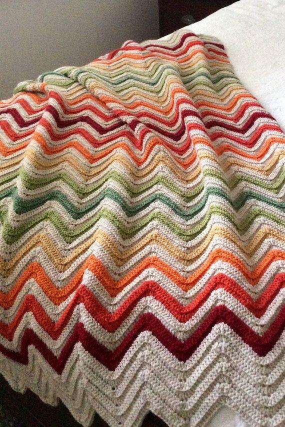 Made to Order, Crochet blanket, chevron blanket, chevron crochet ...