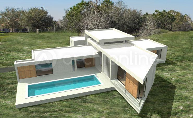 Maison Sciacca - Plan de maison Moderne par Archionline making