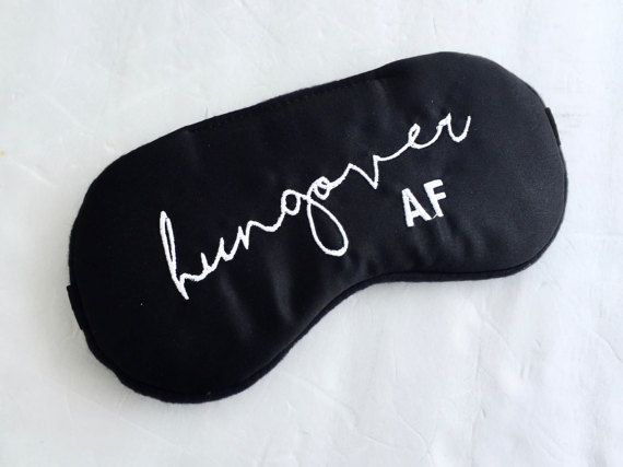 Hungover Satin Sleep Mask Shameless Sleep Mask By Shushbear Diy