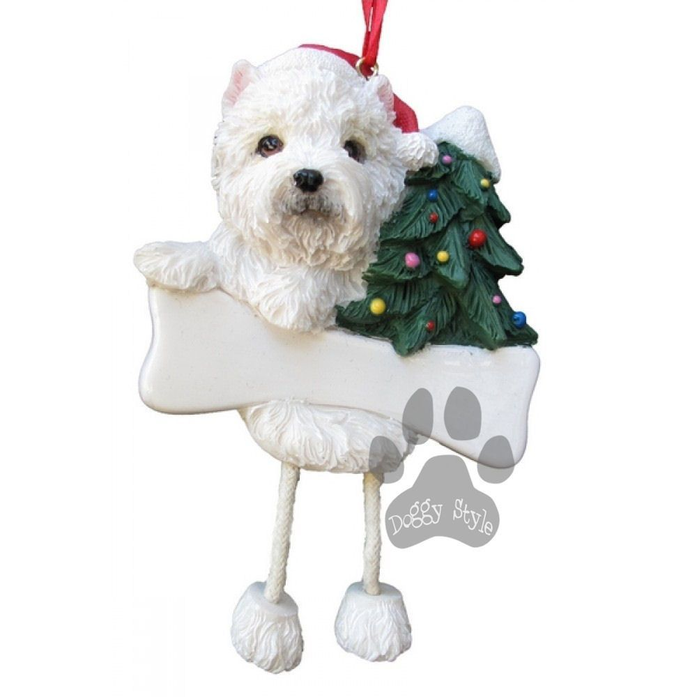 Dangling Leg West Highland Terrier Westie Dog Christmas Ornament in ...