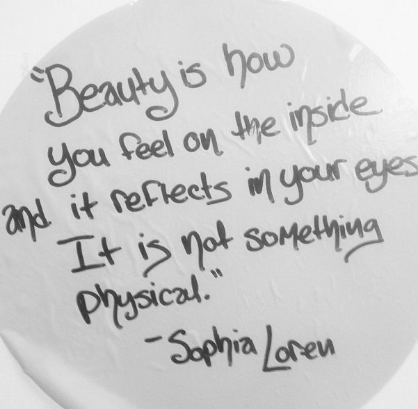 Words from a beauty icon #innerbeauty