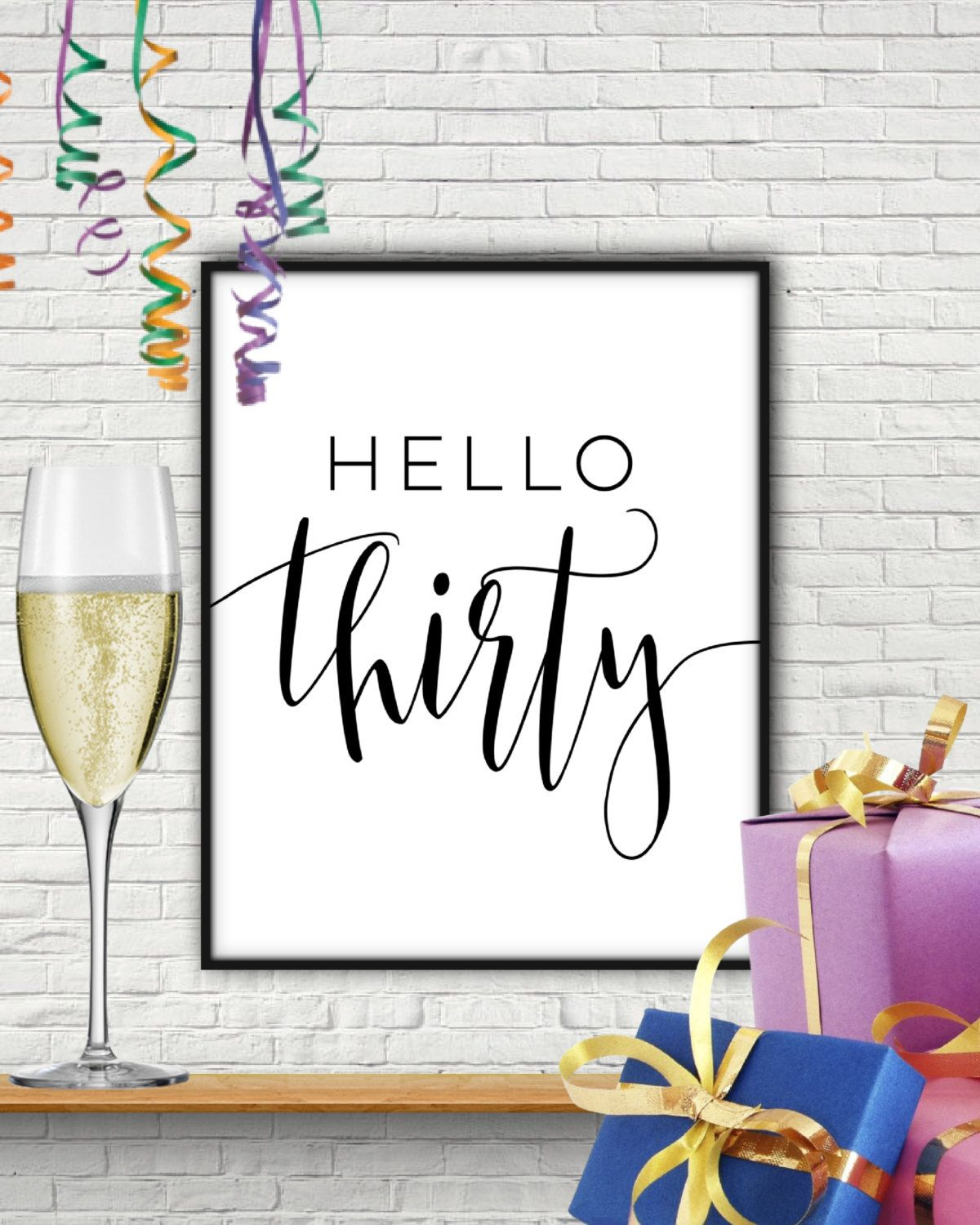 Hello thirty thirtieth birthday thirty birthday 30th for 30th birthday decoration packages