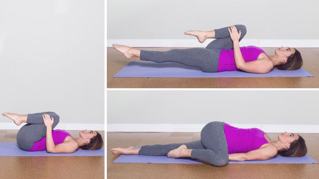 supine twisting for bloat & constipation