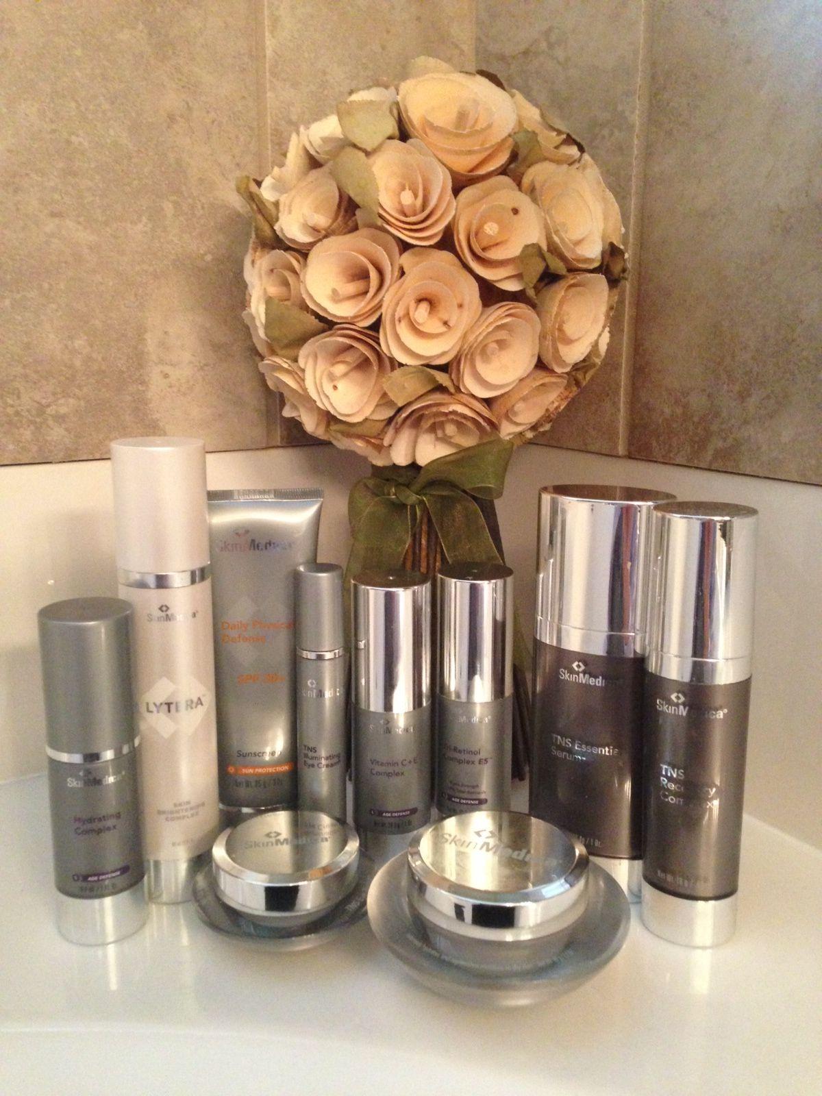 Flowers Highlight This #SkinMedica Display. #bathrooms #skincare