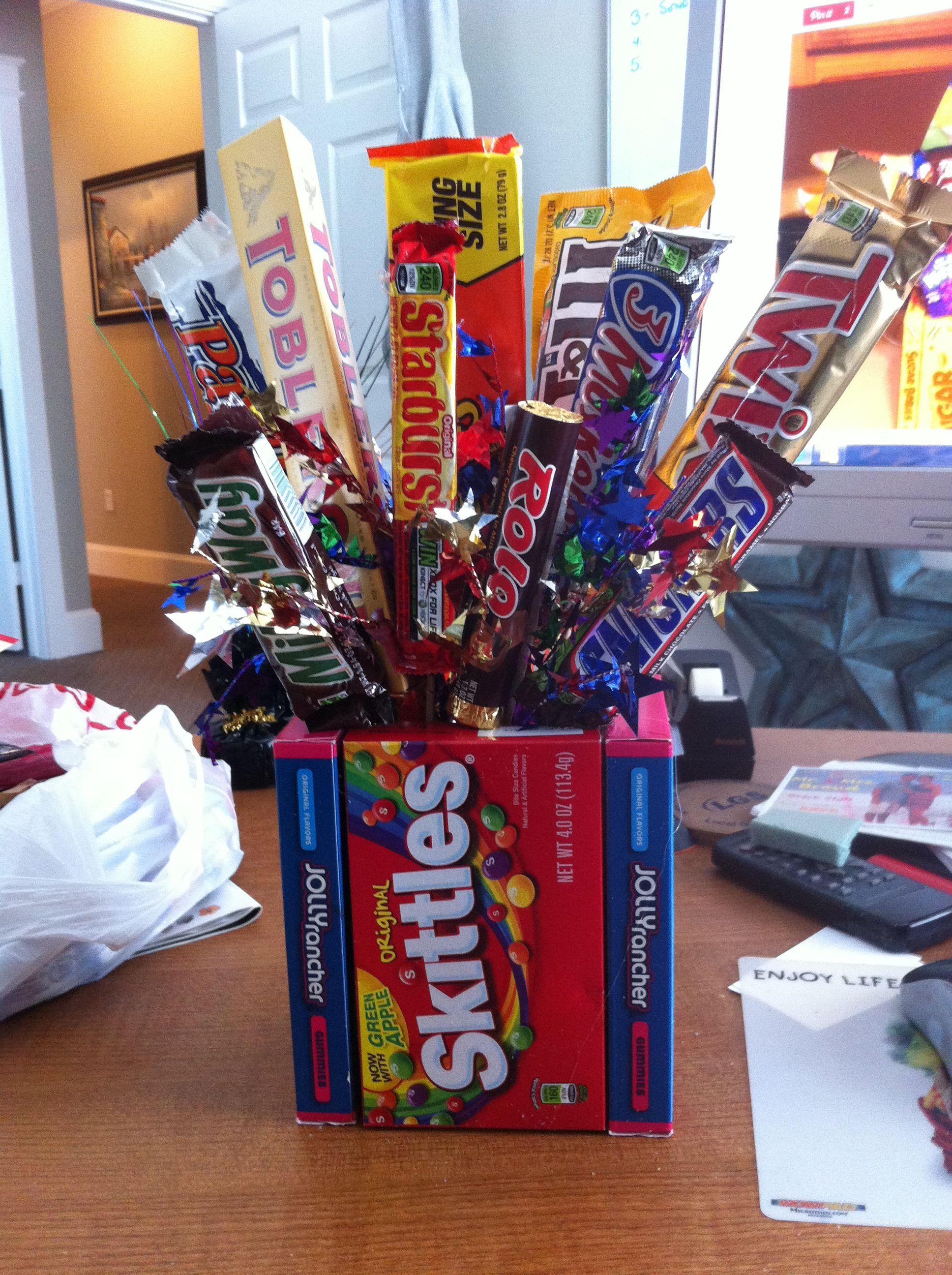 candy bouquet for raffle prizes | chla education fair | pinterest