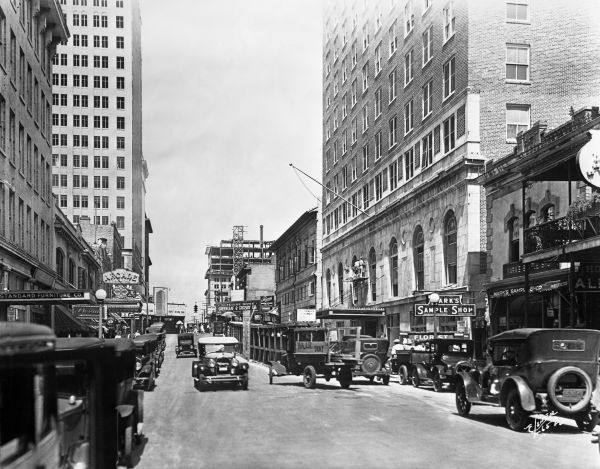 Adams Street In Jacksonville 1923 Florida Memory