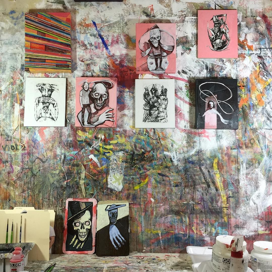 Current studio state. #painting